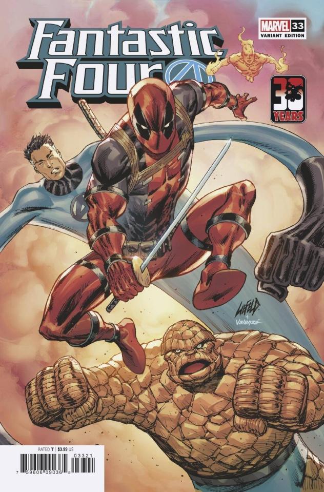Fantastic Four #33 (Liefeld Deadpool 30th Cover)