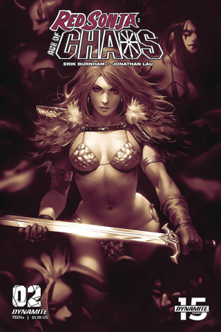 Red Sonja: Age of Chaos #2 (25 Copy Chew Monochromatic Cover)