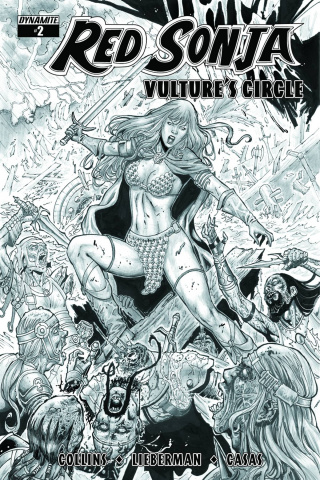 Red Sonja: Vulture's Circle #2 (20 Copy Geovani B&W Cover)