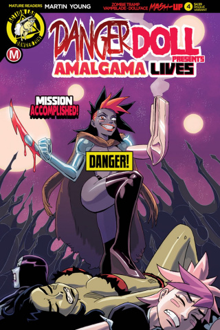 Danger Doll Squad Presents: Amalgama Lives #4 (Young Risque Cover)