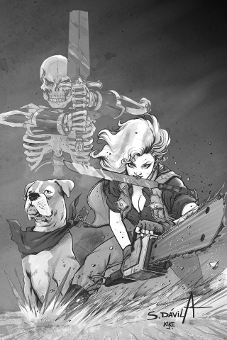 Death to the Army of Darkness #2 (11 Copy Davila B&W Virgin Cover)