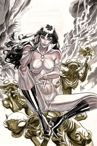 Vampirella #5 (21 Copy March B&W Virgin Cover)