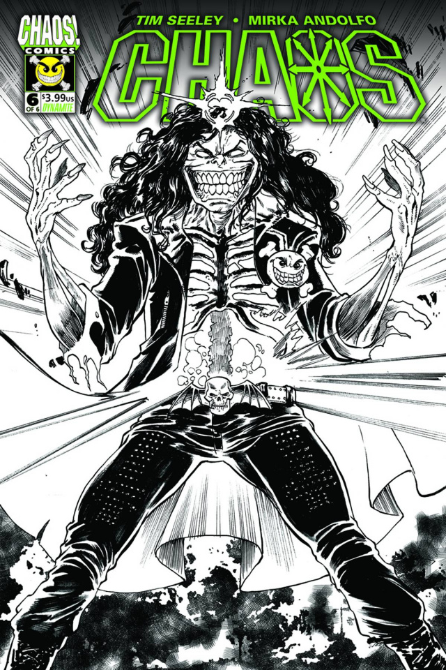 Chaos #6 (50 Copy Seeley B&W Cover)