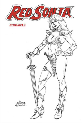 Red Sonja #16 (20 Copy Linsner B&W Cover)