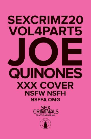 Sex Criminals #20 (XXX Joe Quinones Cover)