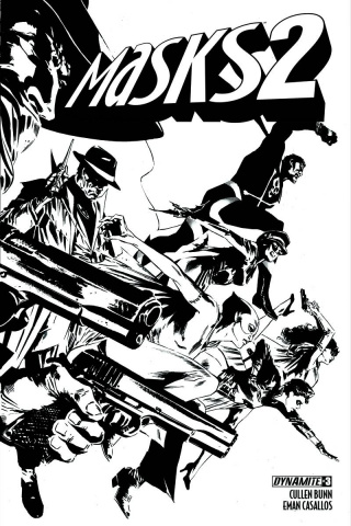 Masks 2 #3 (15 Copy Guice B&W Cover)