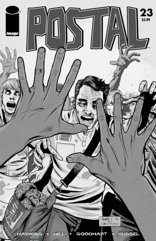 Postal #23 (B&W Walking Dead #51 Tribute Cover)
