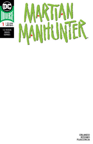 Martian Manhunter #1 (Blank Cover)