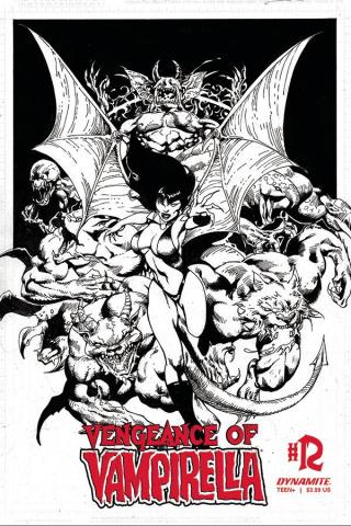 Vengeance of Vampirella #12 (11 Copy Castro B&W Cover)