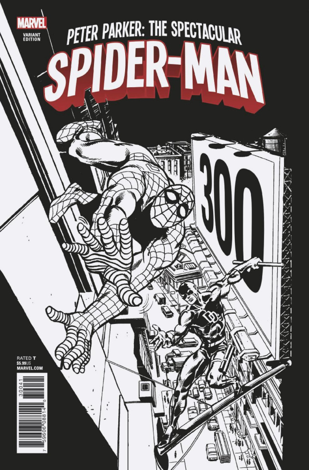 Peter Parker: The Spectacular Spider-Man #300 (Remastered Sketch Cover)