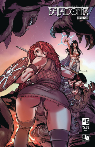Belladonna: Fire and Fury #5 (Lupine Cover)