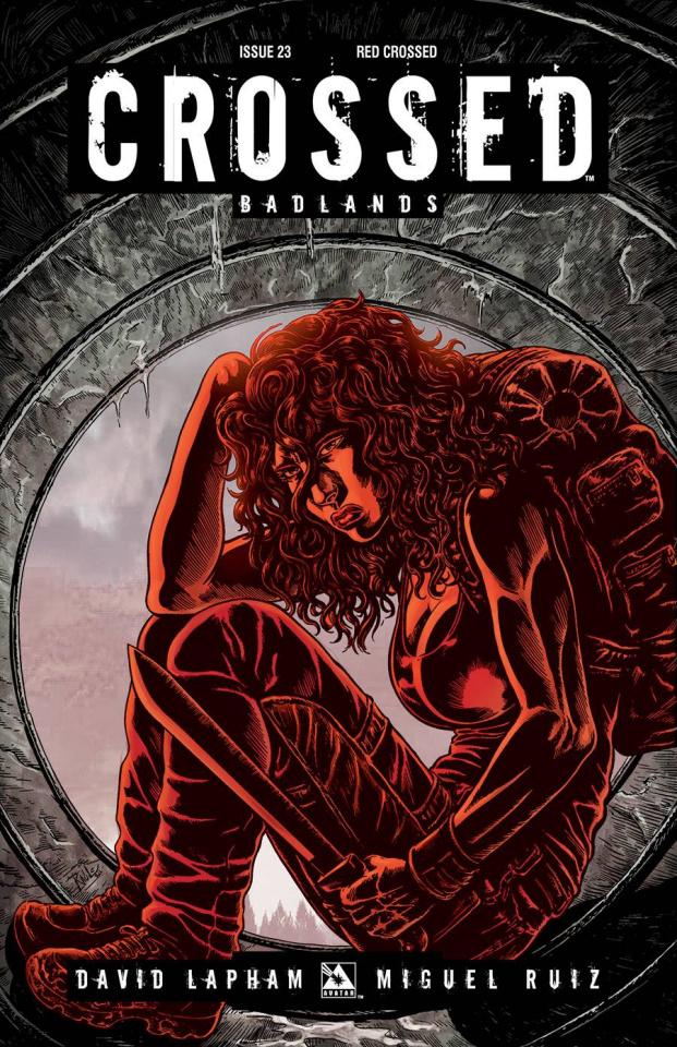Crossed: Badlands #23 (Red Crossed Cover)