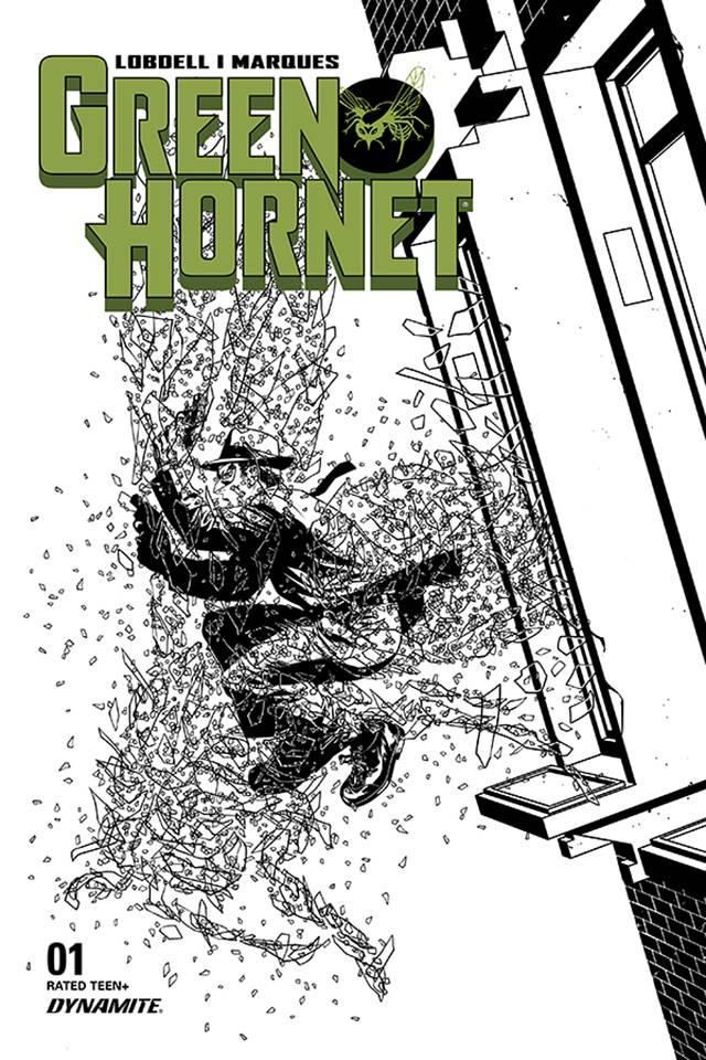 Green Hornet #1 (15 Copy Mckone B&W Cover)
