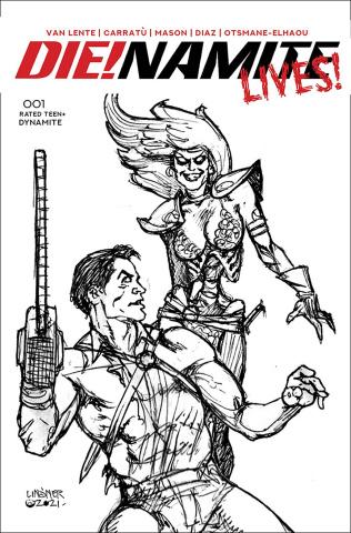 DIE!namite Lives! #1 (20 Copy Linsner Pencil Art Cover)