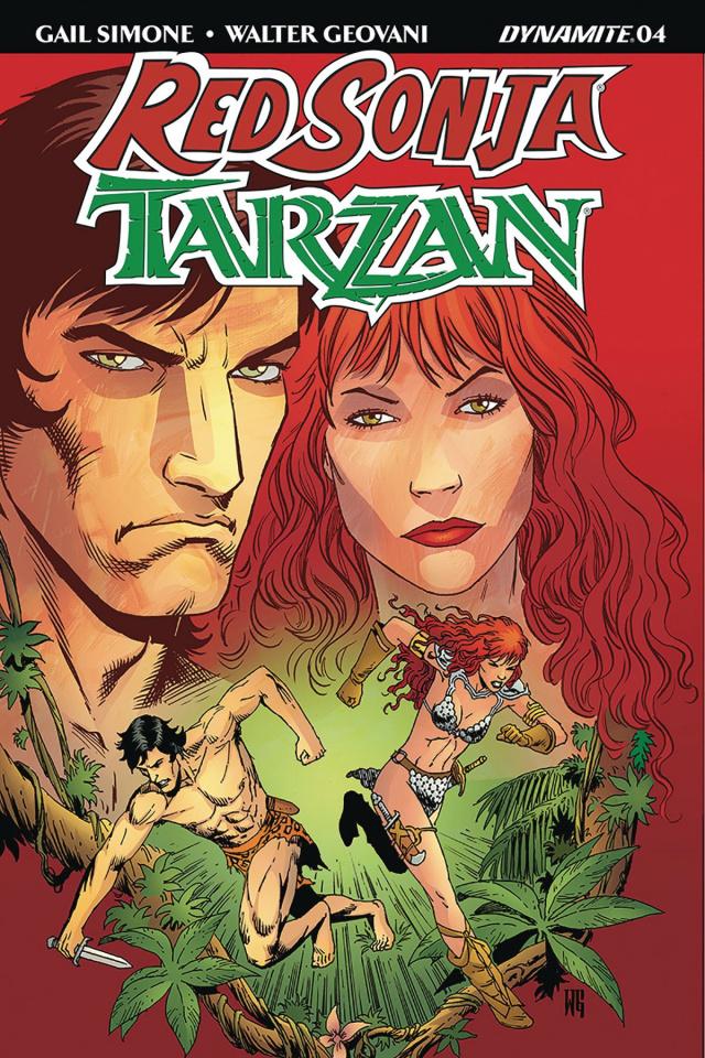 Red Sonja / Tarzan #4 (Geovani Cover)