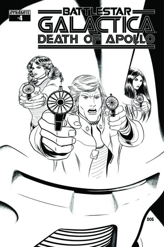 Battlestar Galactica: Death of Apollo #4 (10 Copy Smith B&W Cover)