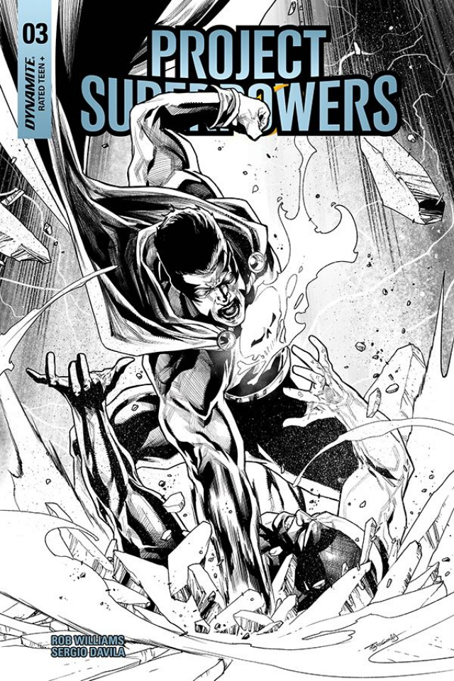 Project Superpowers #3 (20 Copy Segovia B&W Cover)