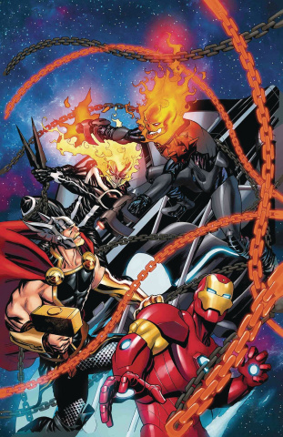 Avengers #8 (McKone Cosmic Ghost Rider Cover)