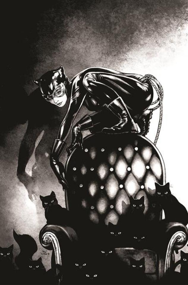Batman: Black & White #2 (Kamome Shirahama Catwoman Cover)
