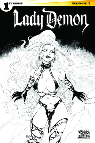 Lady Demon #1 (20 Copy Andolfo B&W Cover)