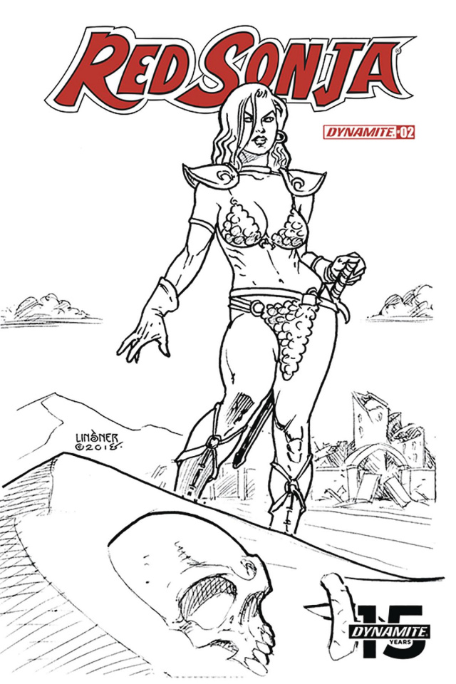 Red Sonja #2 (30 Copy Linsner B&W Cover)