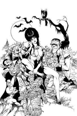Elvira: Mistress of the Dark #11 (21 Copy Castro B&W Virgin Cover)