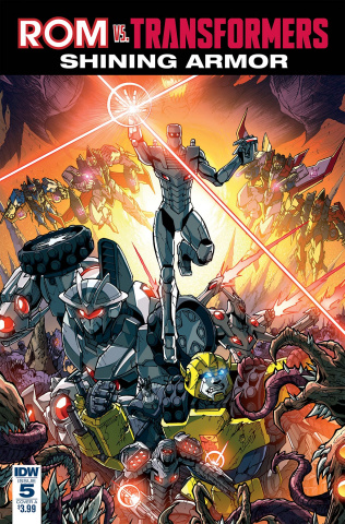 ROM vs. The Transformers: Shining Armor #5 (Milne Cover)