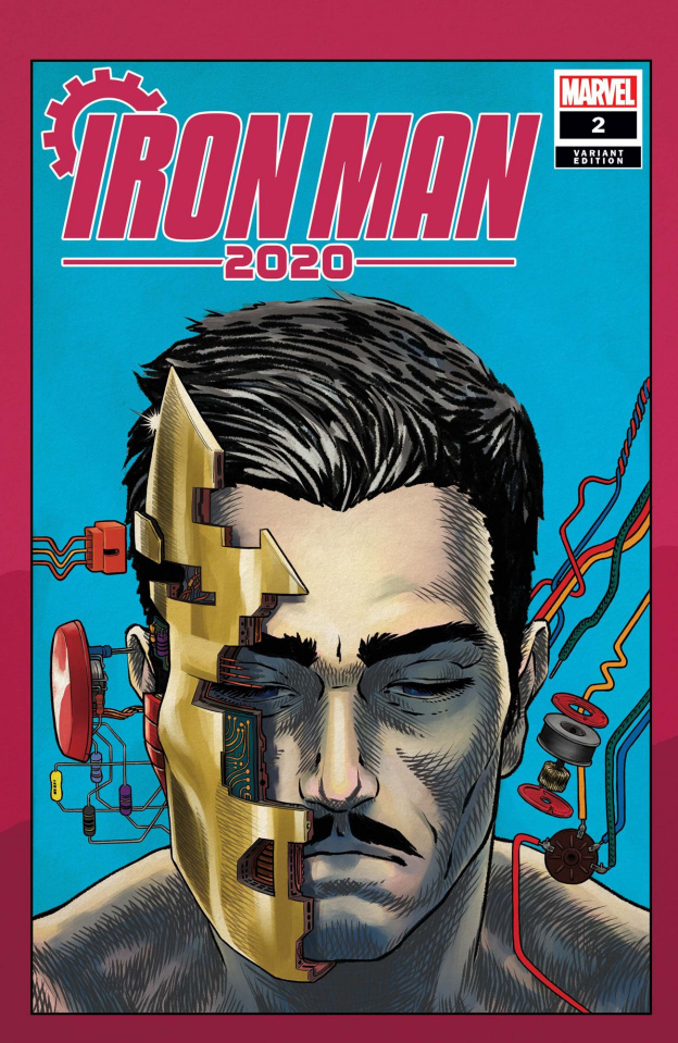 Iron Man 2020 #2 (Superlog Heads Cover)