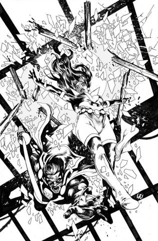 Vampirella: The Dark Powers #4 (7 Copy Lau B&W Virgin Cover)