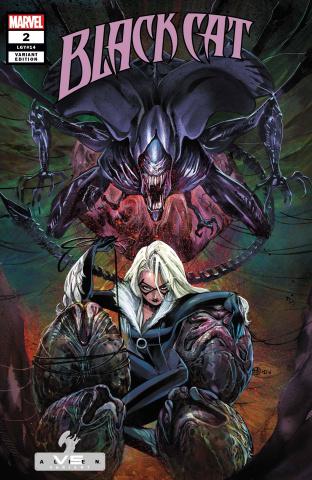 Black Cat #2 (Momoko Marvel vs. Alien Cover)