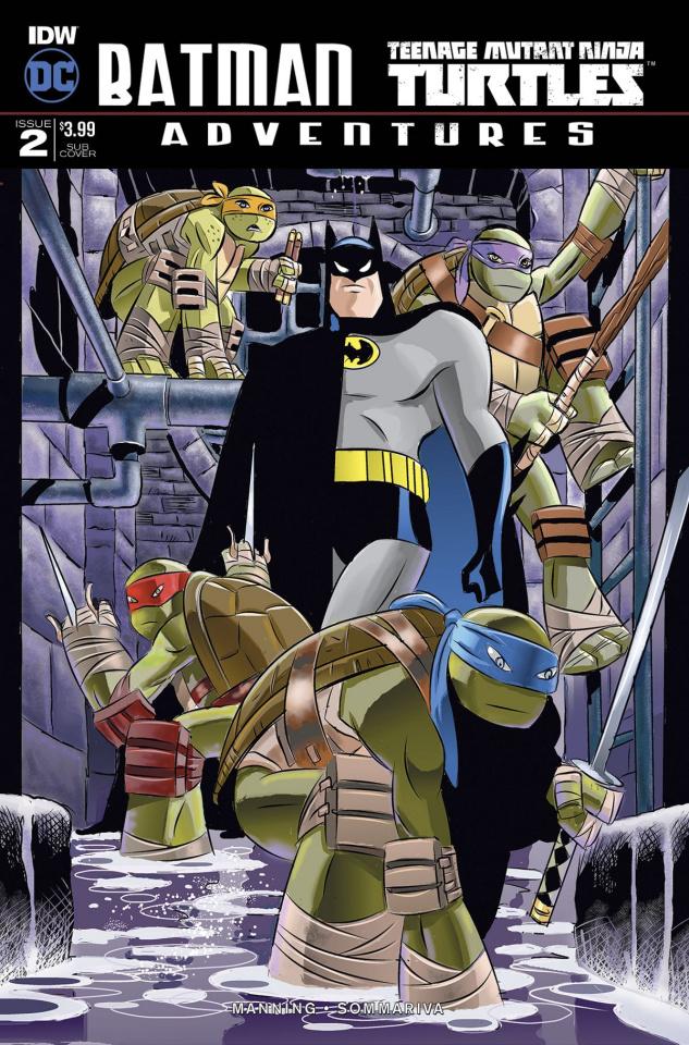 Batman / Teenage Mutant Ninja Turtles Adventures #2 (Subscription Cover)