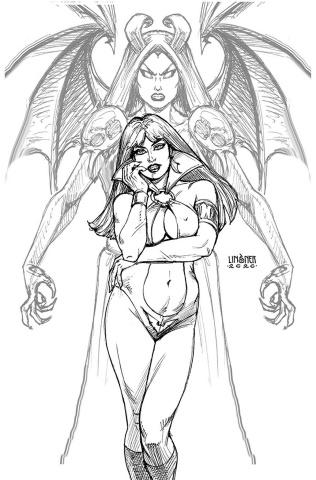 Vampirella vs. Purgatori #1 (50 Copy Linsner B&W Virgin Cover)