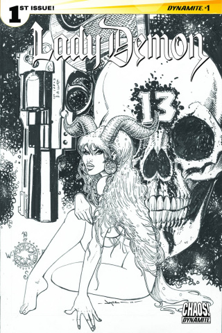 Lady Demon #1 (10 Copy Chin B&W Cover)