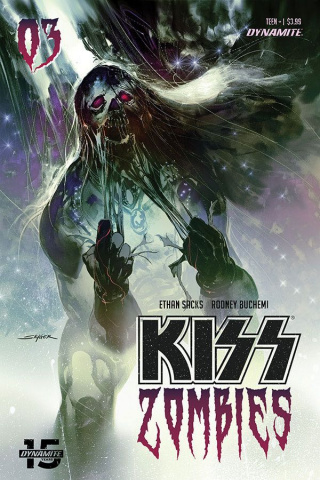 KISS: Zombies #3 (Sayger Cover)