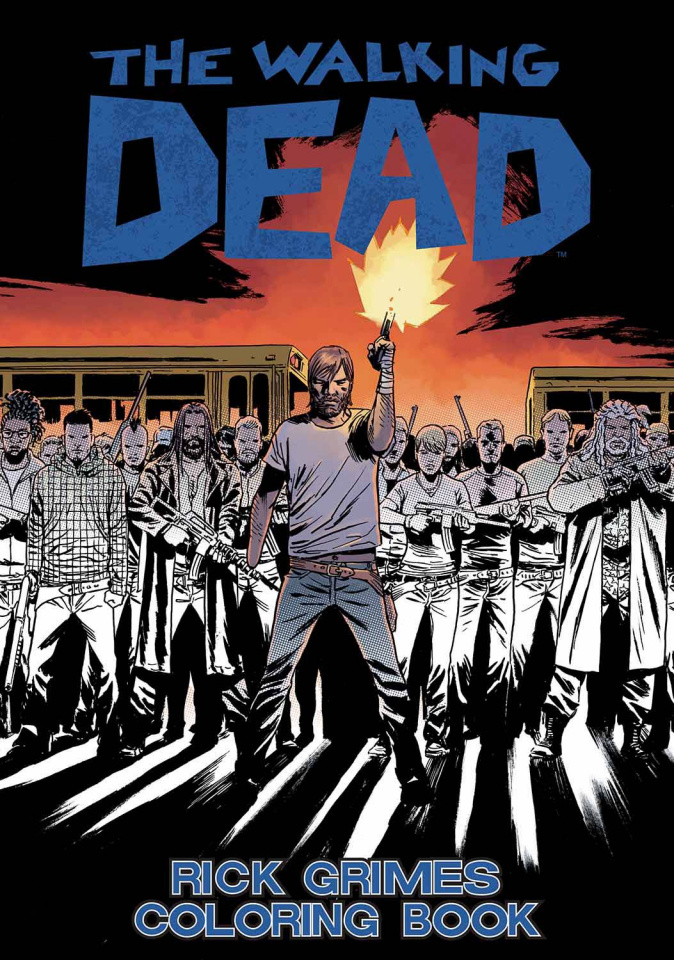 The Walking Dead: Rick Grimes Adult Coloring Book