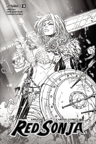 Red Sonja #14 (10 Copy Meyers B&W Cover)