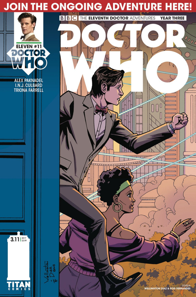 Doctor Who: New Adventures with the Eleventh Doctor, Year Three #11 (Diaz Cover)