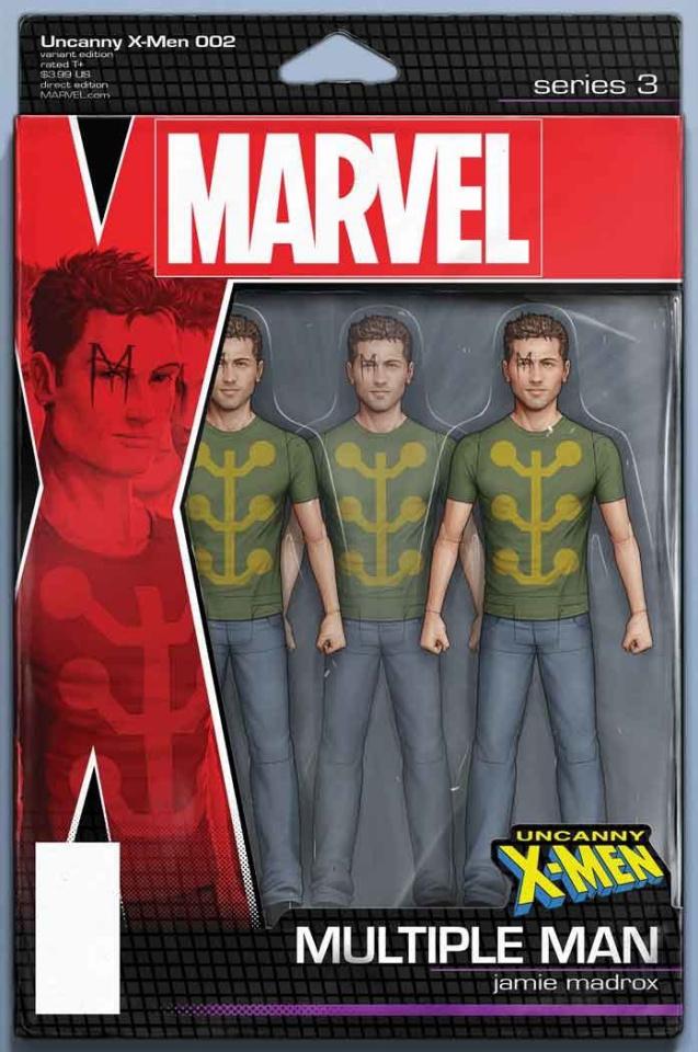 Uncanny X-Men #2 (Christopher Action Figure Cover)