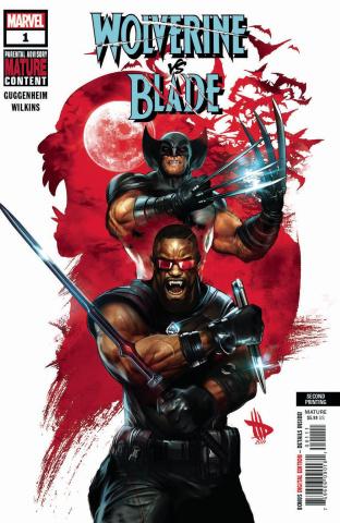 Wolverine vs. Blade #1 (Wilkins 2nd Printing)