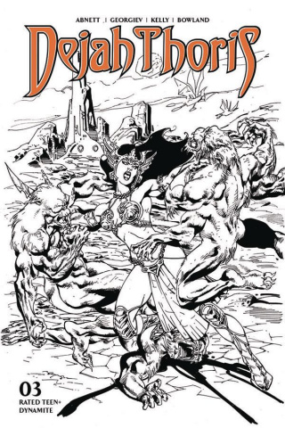 Dejah Thoris #3 (7 Copy Castro B&W Cover)
