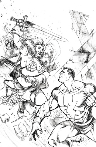 Red Sonja: The Superpowers #2 (11 Copy Davila B&W Virgin Cover)