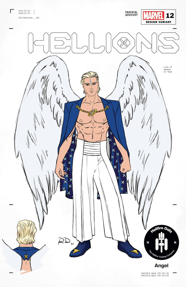 Hellions #12 (Dauterman Angel Design Cover)