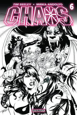 Chaos #6 (10 Copy Lupacchino B&W Cover)