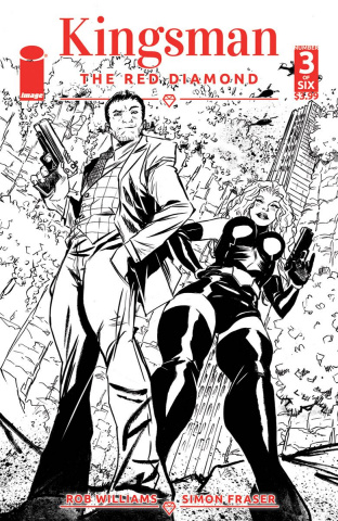 Kingsman: The Red Diamond #3 (B&W Greene Cover)