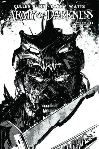 Army of Darkness #4 (10 Copy Hardman B&W Cover)