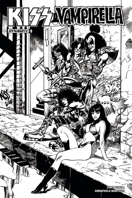 KISS / Vampirella #3 (25 Copy Castro B&W Cover)