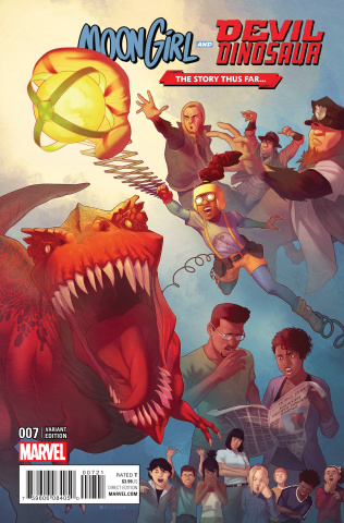 Moon Girl and Devil Dinosaur #7 (Story Thus Far Cover)