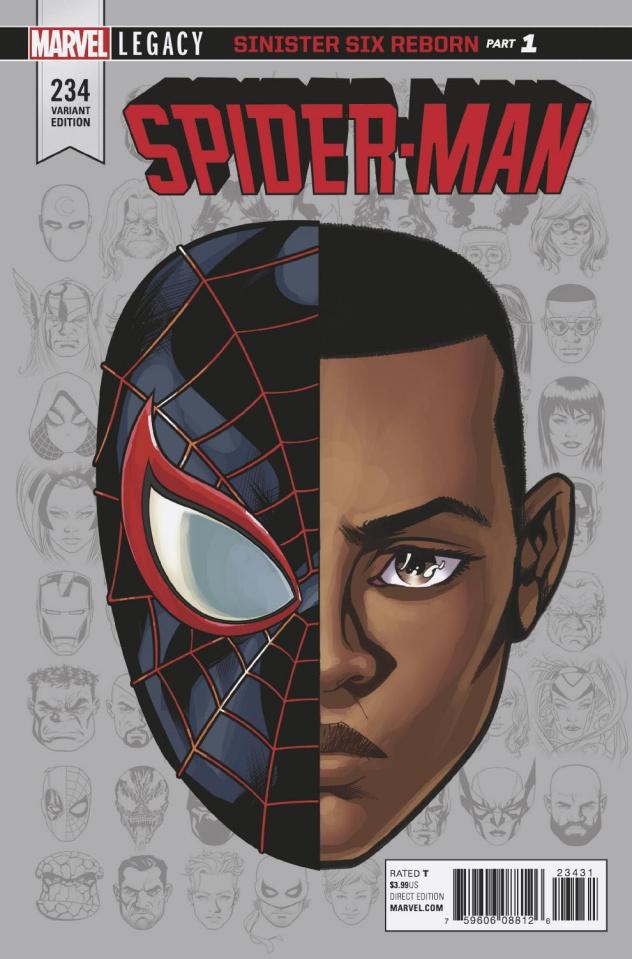 Spider-Man #234 (McKone Legacy Headshot Cover)