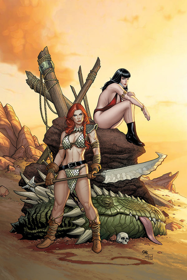 Vampirella / Red Sonja #3 (Cho & Rich Virgin Cover)
