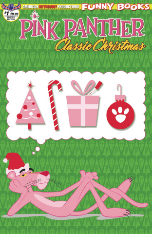 The Pink Panther Classic Christmas #1 (Retro Animation Cover)